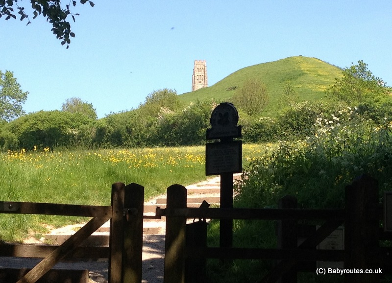 Gate to Glastonbury Tor steps