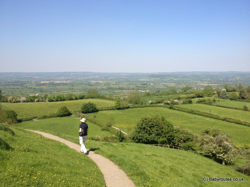 Path down from Glastonbury Tor