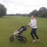 Jogging along the Thames Path with baby in a Mountain Buggy Terrain Running Pushchair
