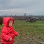 Toddler at the top of Primrose Hill, London