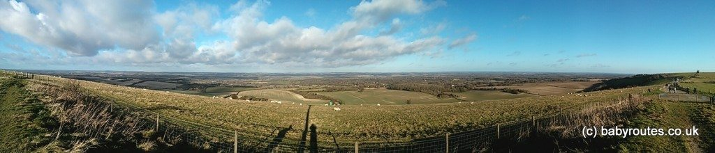 Photo of views from Test Way on Walbury Hill