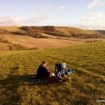 Photo of picnic spot with great views of Walbury Hill