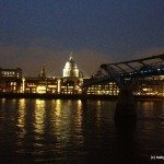 Photo of St. Paul's Cathedral from South Bank at night