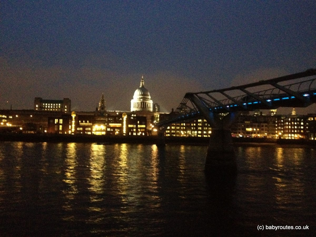 Night lights queens walk london - Photo Of St Paul S Cathedral From South Bank At Night