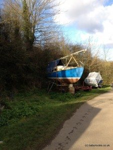 Boats on stands, Clevedon