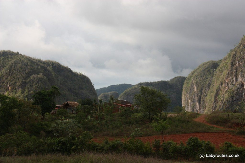 Red clay and agricultural land of Vinales Valley, Pinar del Rio, Cuba