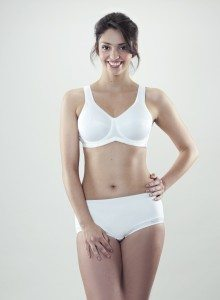 Glamour and Model Portfolio Shots - White Freya Active Underwired Sports Bra