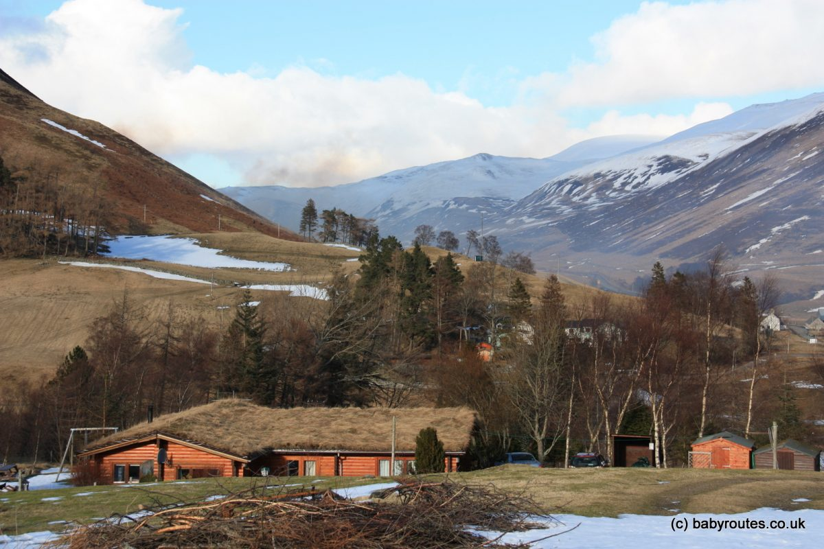 GView from Glen Beag Mountain Lodges, Glenshee, Cairngorms, Perthshire, Scotland