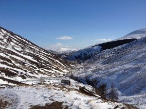 Glenlochsie Lodge & forest walk, Spittal of Glenshee, Cairngorms, Scotland