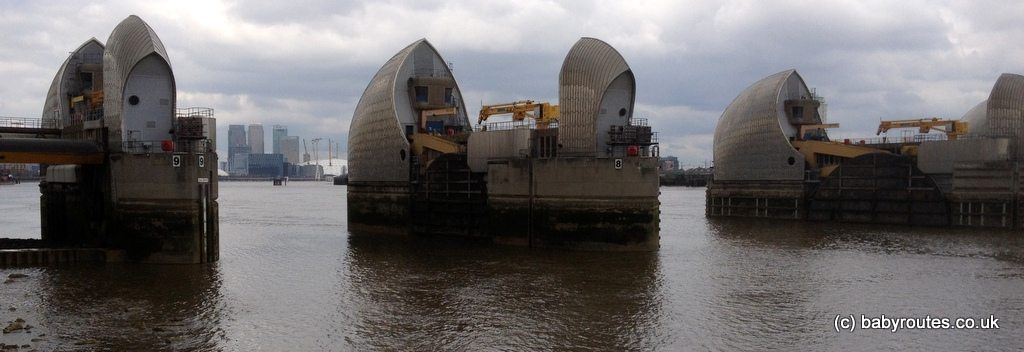 East side of the Thames Barrier, London