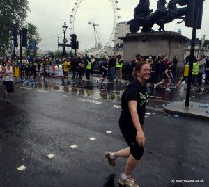 London 10k running by London Eye