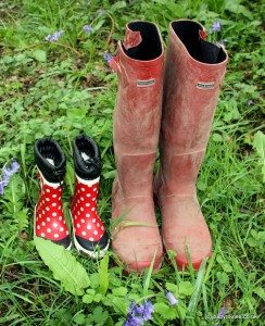 Parent and child wellies