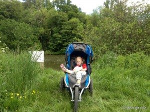 Chilling out in the BOB Sport Utility Stroller, Britax