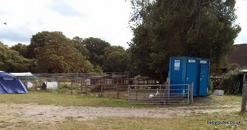 Loo block, Pondhead Farm,  Lyndhurst,New Forest