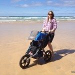 BOB Sport Utility Stroller on the beach, Cornwall