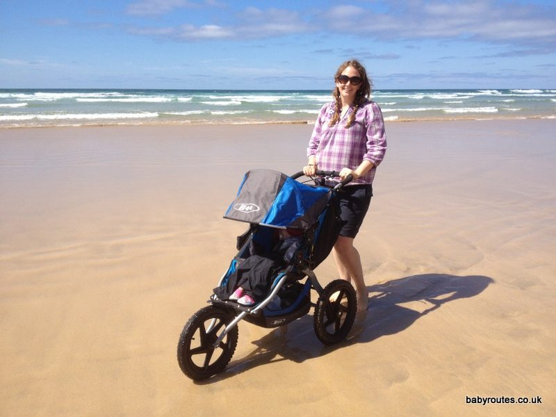 BOB Sport Utility Stroller on the beach, Cornwall
