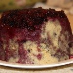 Super-fast blackberry upside down cake pudding