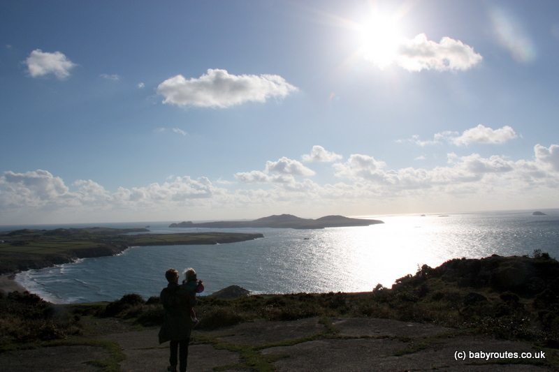 View fro Carn Llidi, St. Davids Head Walk, Pembrokeshire, Wales. Baby Routes