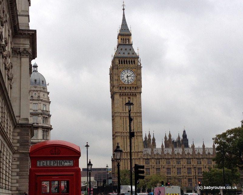 Big Ben Elizabeth Tower, London, Baby Routes Sightseeing Walk