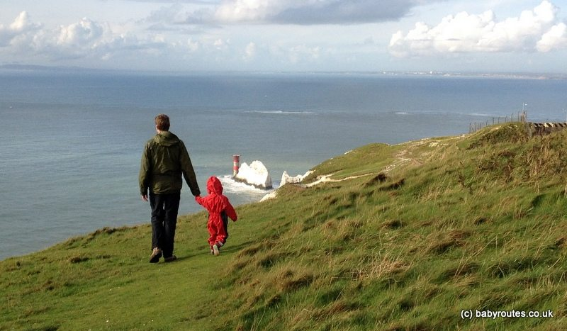Baby Routes Isle of Wight walks, The Needles