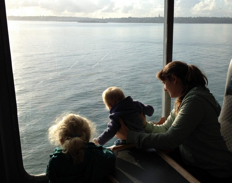 Wightlink Ferries, travelling with kids.