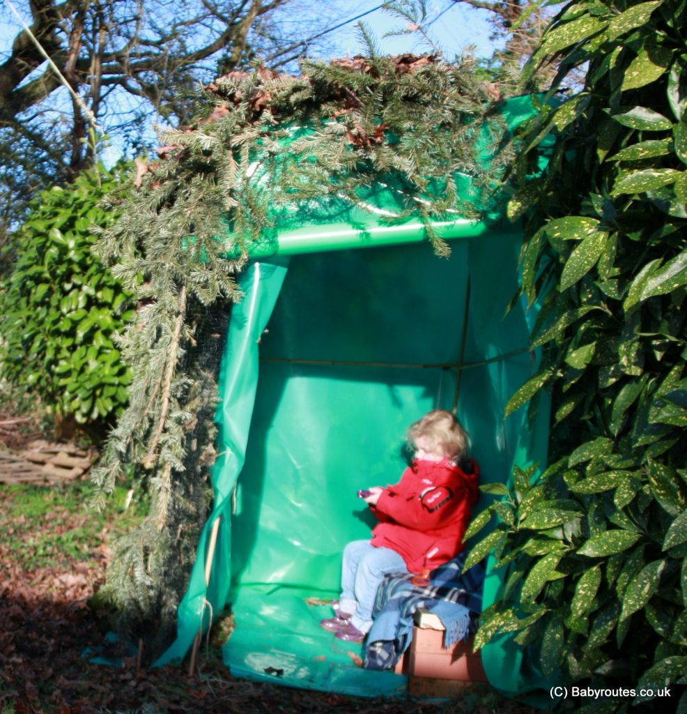 Building a bird hide in the garden for kids