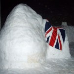 Igloo and snow bar