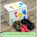 How to make a garden shoe storage box