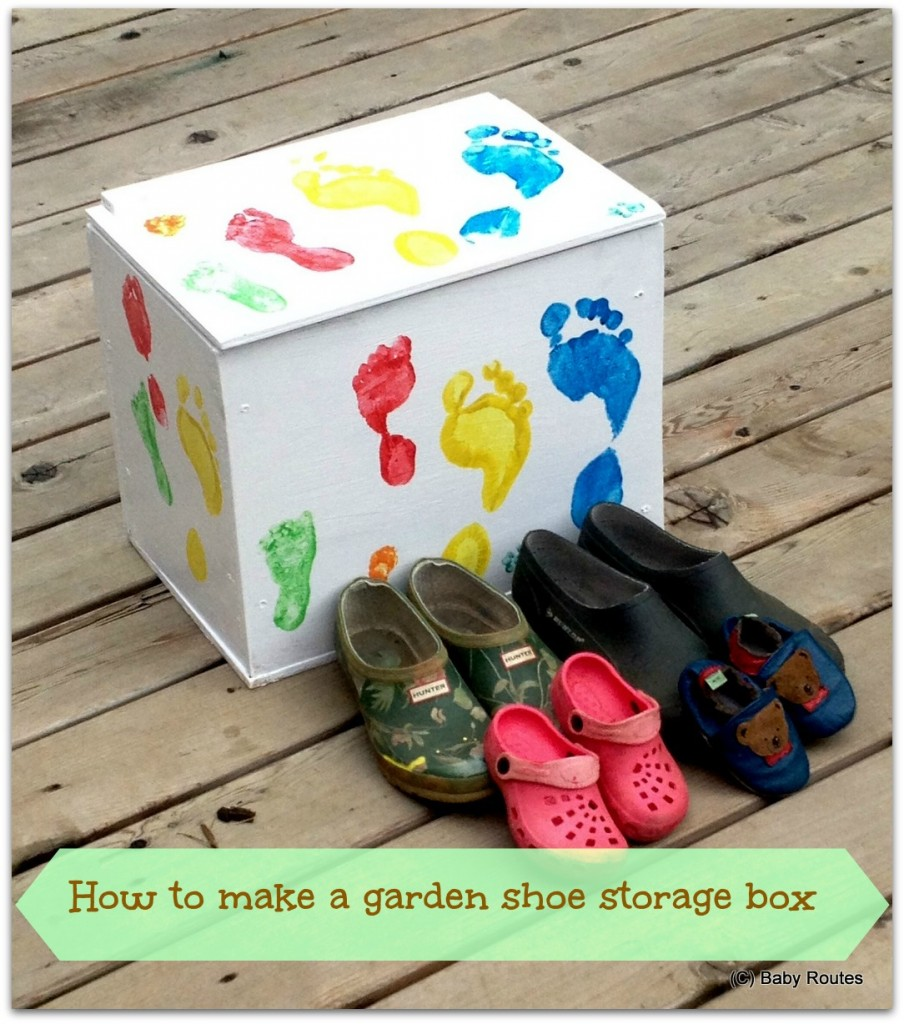 How to make a garden shoe storage box