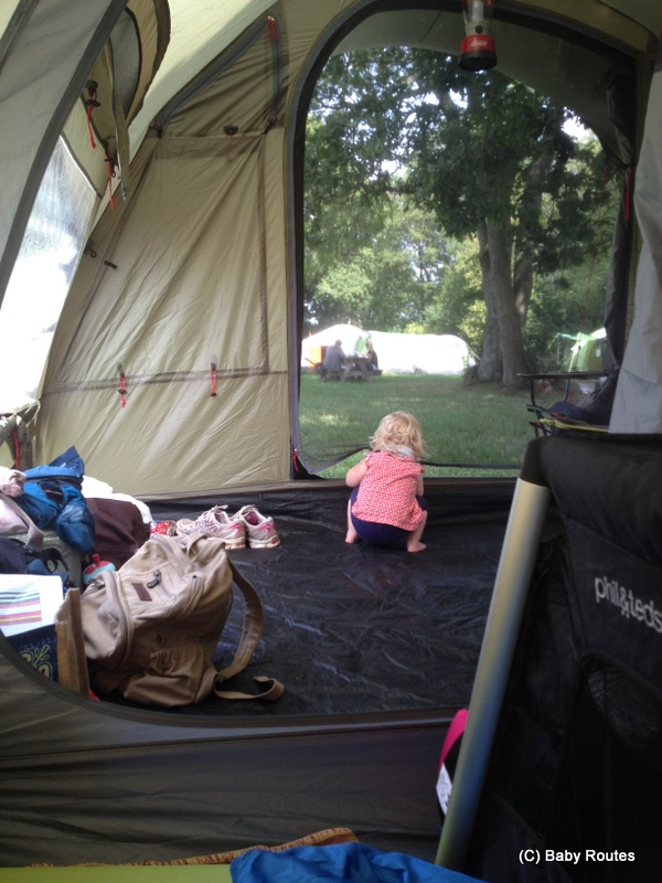Testing out the tent, Escape to the Countryside