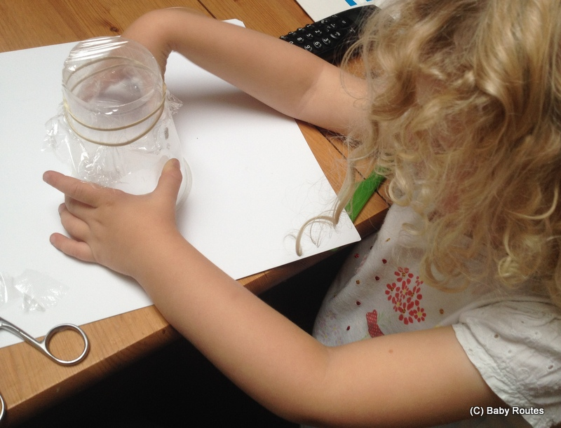 How to make a pond-oscope, pond crafts, Baby Routes