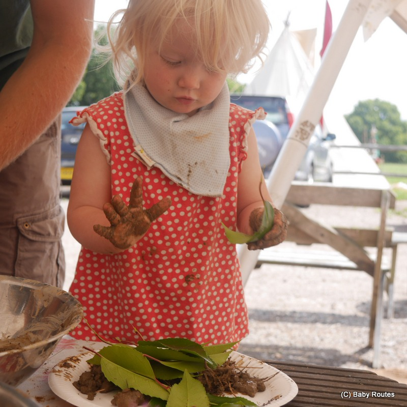 making mud pies, Escape to the Countryside