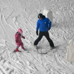 Indoor skiing with children, The Snow Centre, Hemel Hempstead