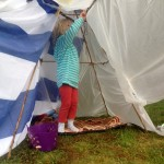 how to build a kids' rain wigwam, Baby Routes