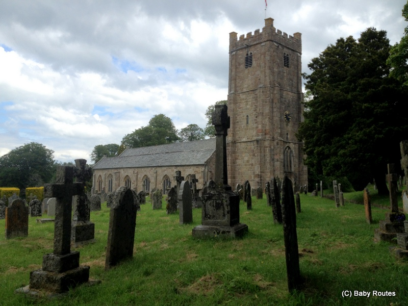 Chagford, Church, Chagford Town and River Walk, Dartmoor, Devon, Baby Routes
