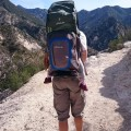 San Bernadino Mountains, California with a LittleLife Ultralight S3 Child Carrier