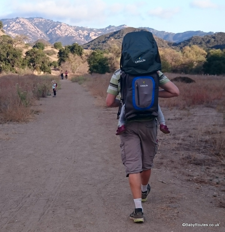 LittleLife Ultralight S3 Child Carrier Review,hiking in Malibu State Park, California, USA