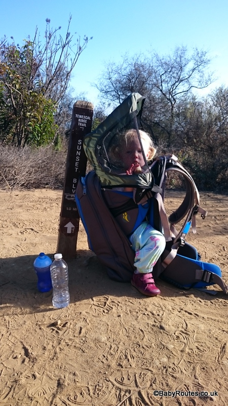 LittleLife Ultralight S3 Child Carrier Review, Hiking up in the Santa Monica Mountains