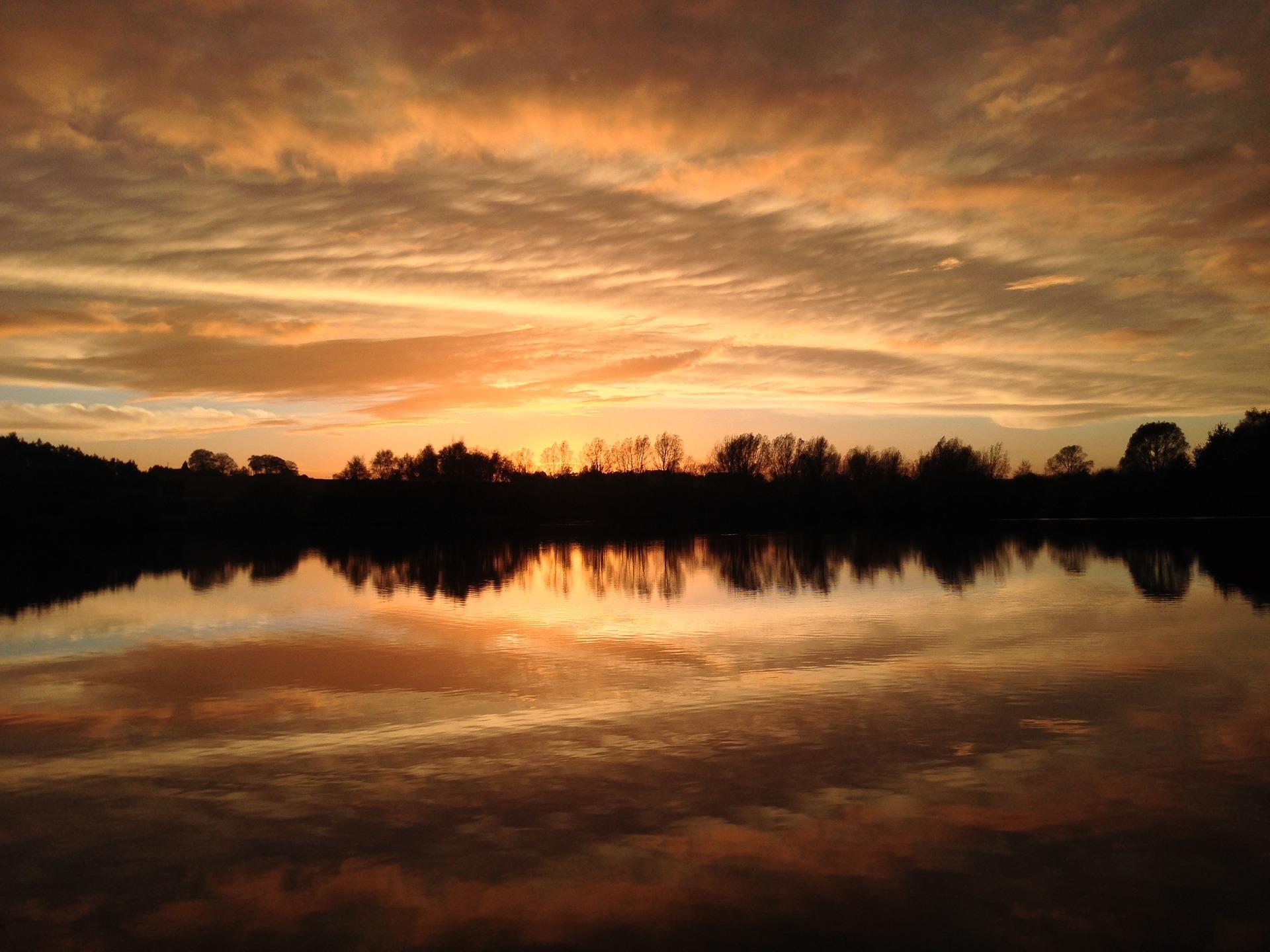 Norfolk Broads at sunset
