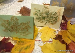 How to Make Autumn Leaf Print Cards