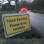 Road sign for Henley Toad Patrol
