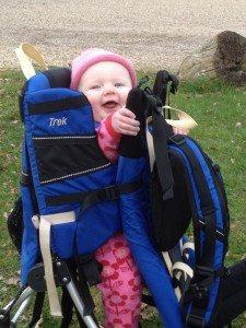 Baby in Kelty Kids baby rucksack