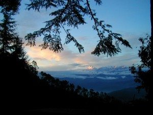 View from Kausani in the Indian Himalayas, India