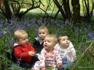 Babies in the bluebells, Highmoor lanes and hedgerows walk, Oxfordshire