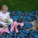 Playing outdoors