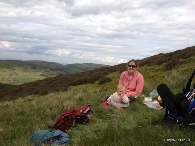 Pentland Hills walk picnic stop
