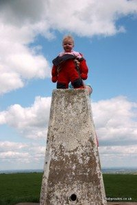 Baby first trig point, White Horse Uffington
