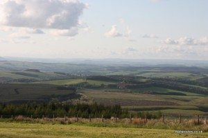 Views over spectacular Northumberland countryside