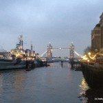 Photo of HMS Belfast and Tower Bridge