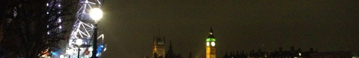Photo of London Eye and Big Ben from the Thames Path on South Bank